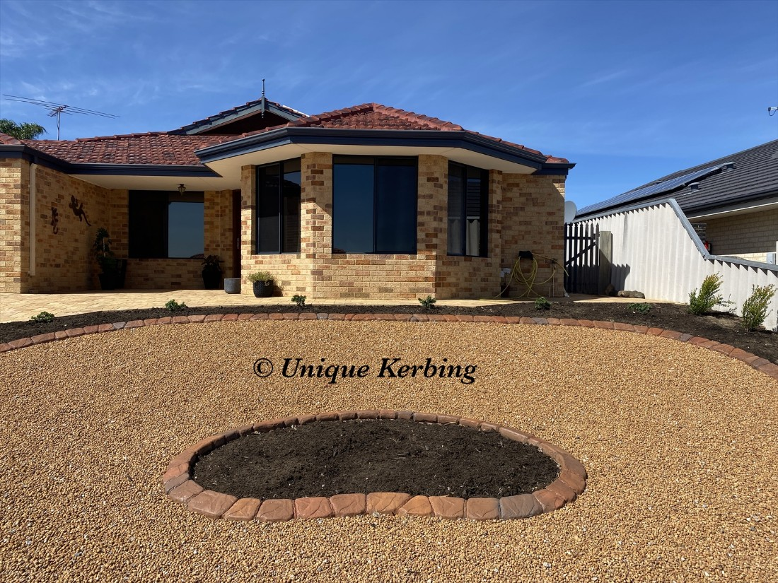 Unique Rock Garden Edging, Kerbing near Alexander Heights, Western Australia