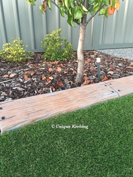 Unique Rustic Wood Garden Edging, Kerbing near Perth WA