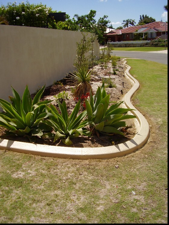 Limestone Garden Edging, Kerbing near Currambine